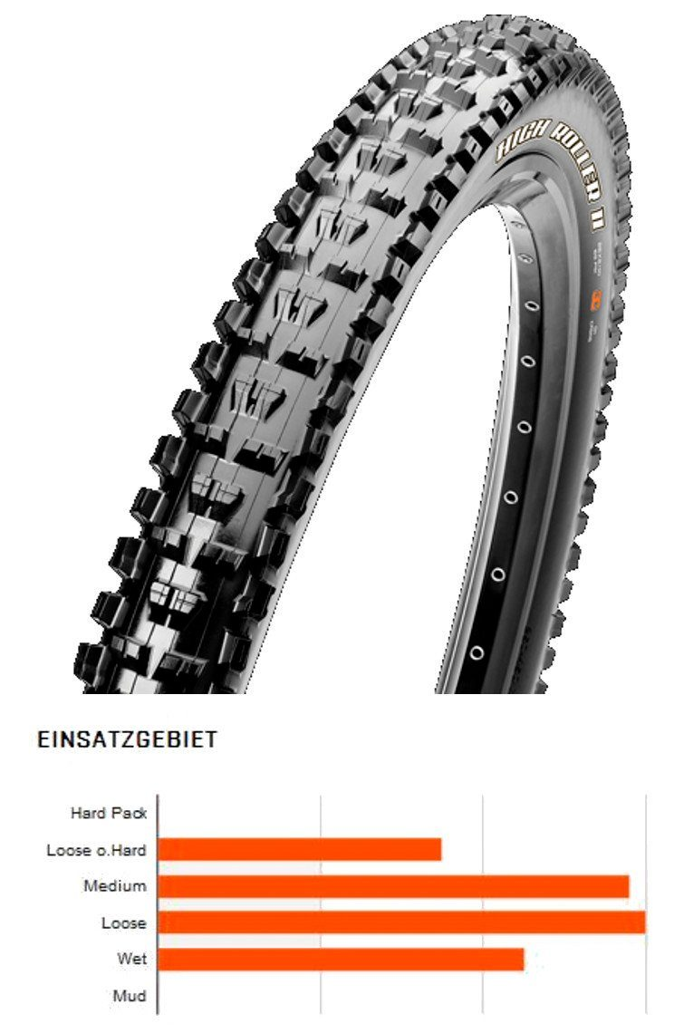 "Maxxis Fahrradreifen »High Roller II 27.5"" MaxxPro SilkShield E-Bike MTB«"