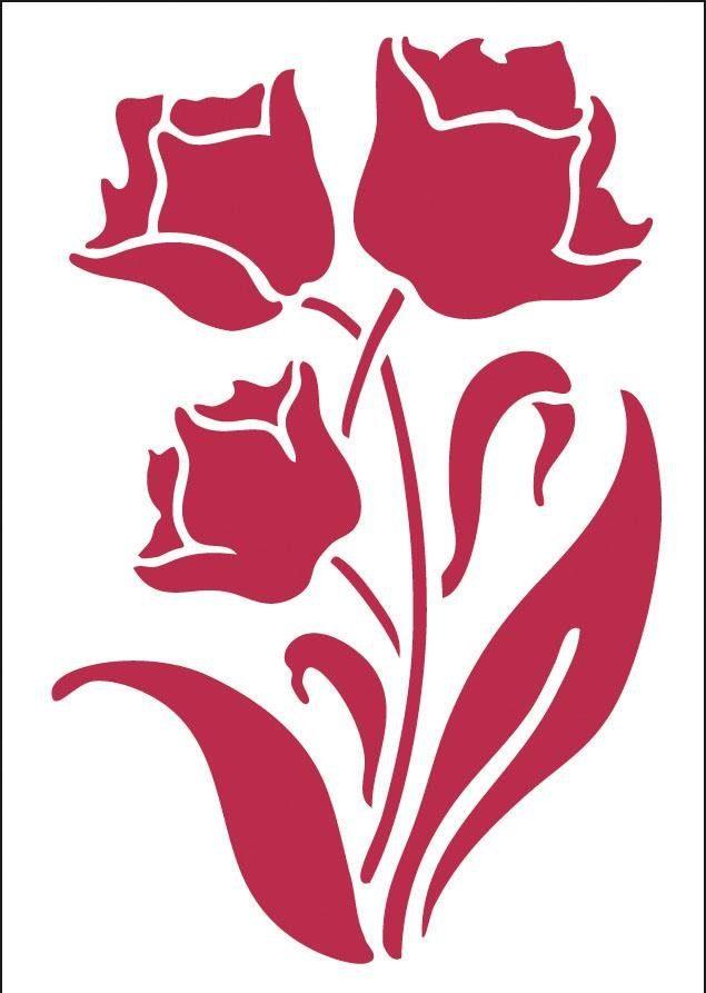 """Stamperia Mal-Schablone """"Blume"""" DIN A4"""