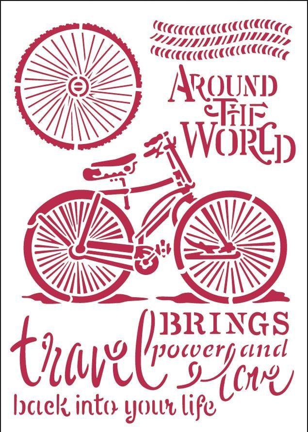 """Stamperia Mal-Schablone """"Around the World"""" DIN A4"""