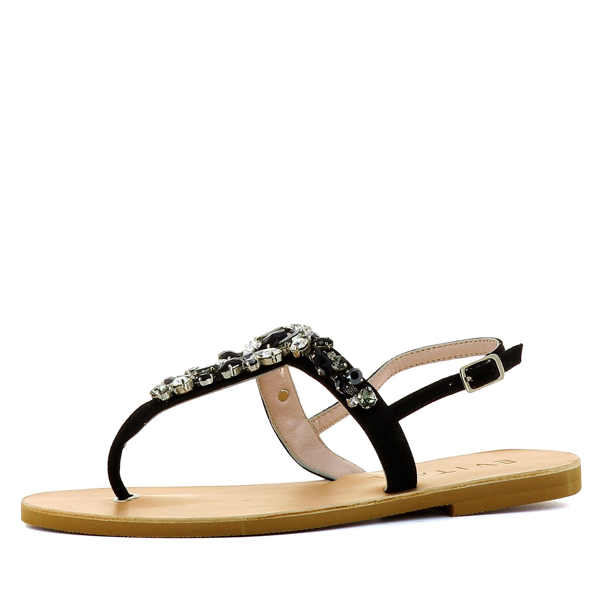 Evita Shoes Greta Damen Sandale Rauleder Fein Dunkelbraun 38 HdcSceqgV