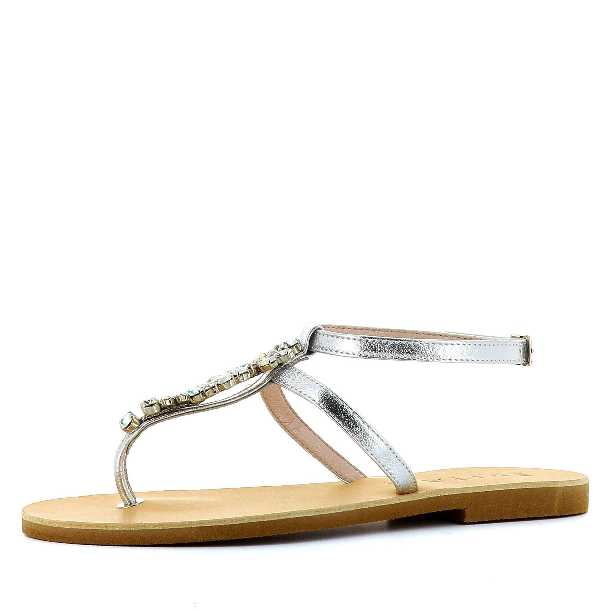 Evita GRETA Riemchensandalette, Sandale kaufen  silberfarben