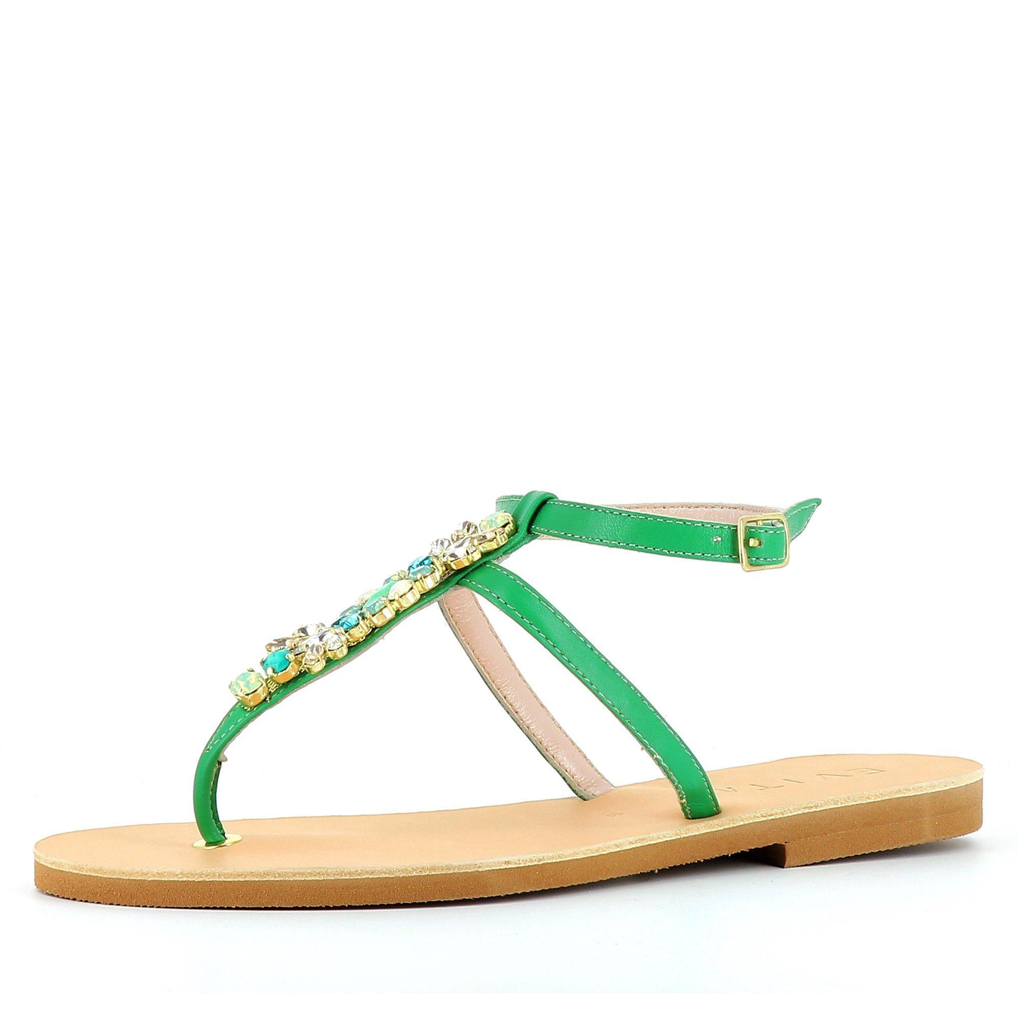 Evita GRETA Riemchensandalette, Sandale kaufen  grün
