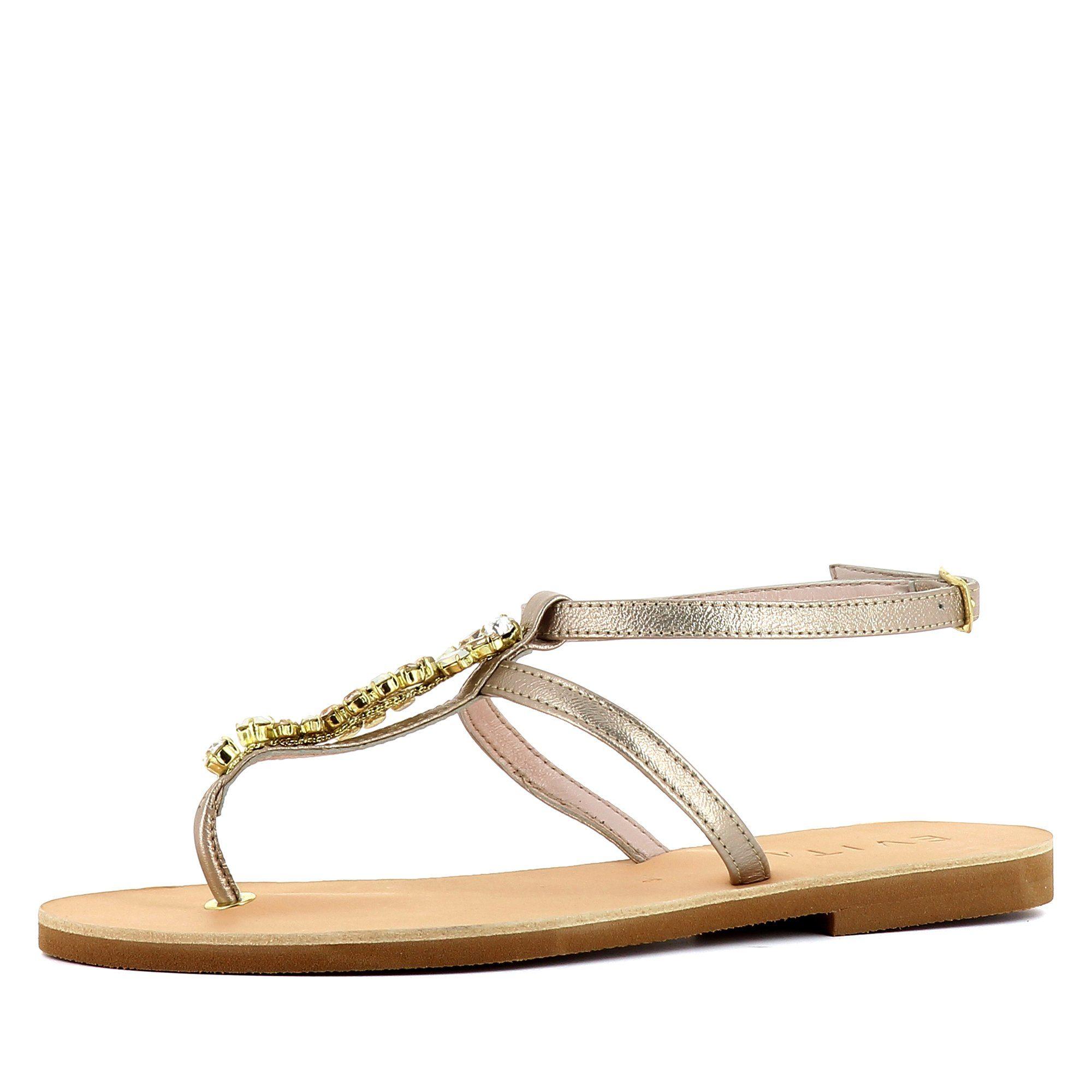 Evita GRETA Riemchensandalette, Sandale kaufen  bronzefarben