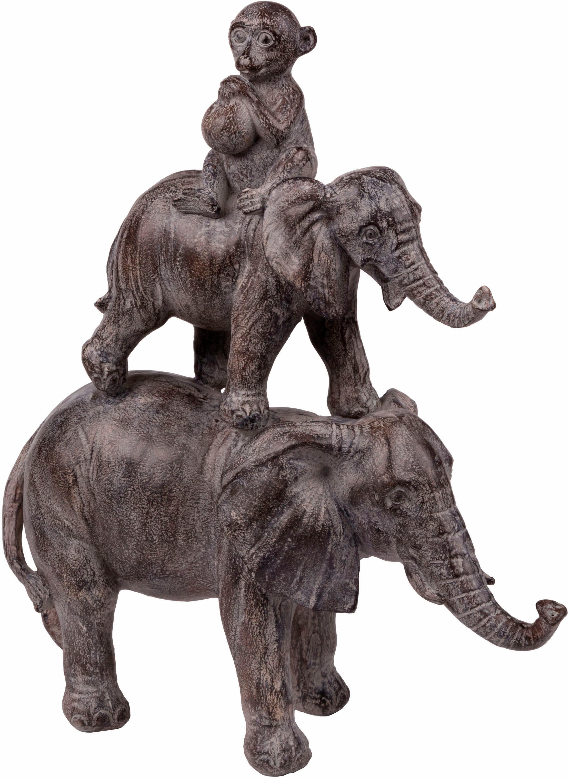 Wittkemper Living Dekoobjekt »Elefanten und Affe«