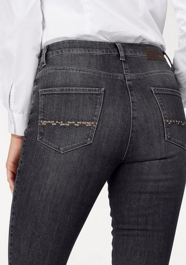 Brax Straight Jeans, Carola Crystal, High Physical Height