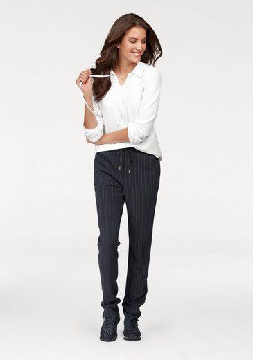 Aniston Schlupfbluse, mit Bindeband