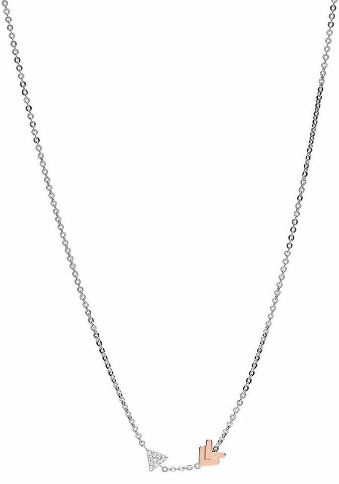 Silberkette  Fossil Silberkette »STERLING SILVER, JFS00428998«, mit Zirkonia ...