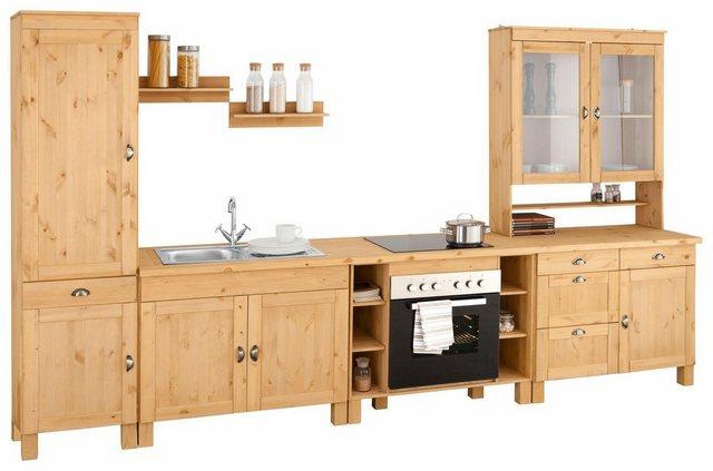 Einbauküchen - Home affaire Küchenzeile »Oslo«, ohne E Geräte, Breite 350 cm, 35 mm starke Arbeitsplatte  - Onlineshop OTTO