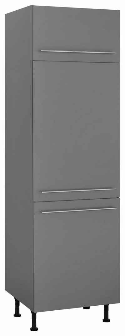 OPTIFIT Kühlumbauschrank »Bern« 60 cm breit, 212 cm hoch, mit höhenverstellbaren Stellfüßen, mit Metallgriffen, geeignet für Einbaukühlschränke Nischenmaß 88