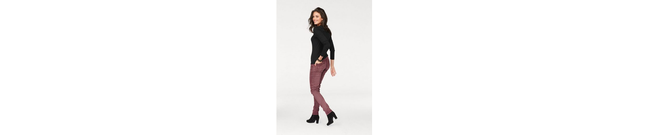 Aniston Skinny-fit-Jeans, in Crashoptik und used Washung