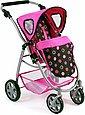 CHIC2000 Kombi-Puppenwagen »Emotion 2in1, schwarz-pink«, mit Babywanne und Sportwagenaufsatz, Bild 6