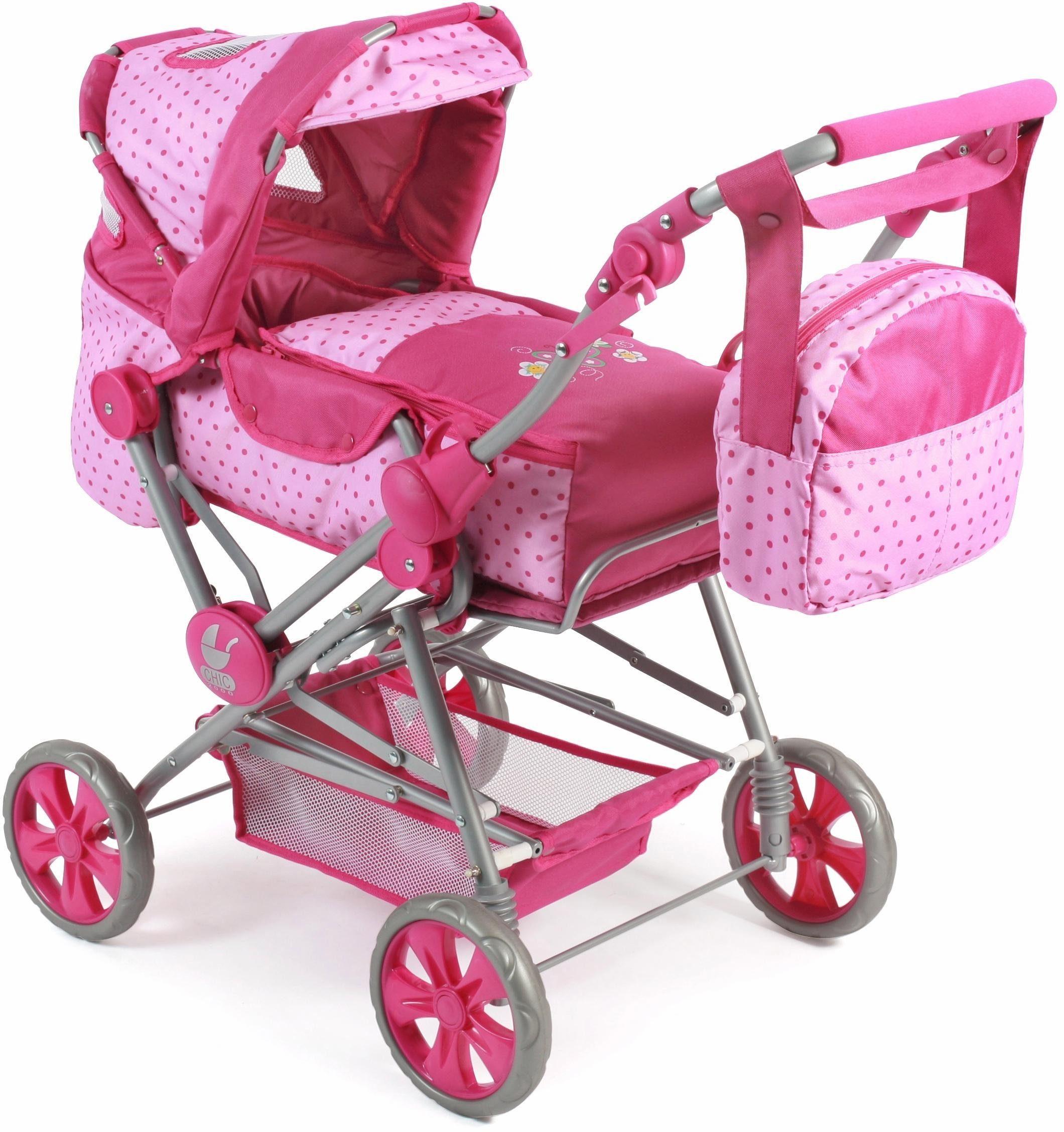 CHIC2000 Kombi Puppenwagen mit Wickeltasche, »Road Star, pink«