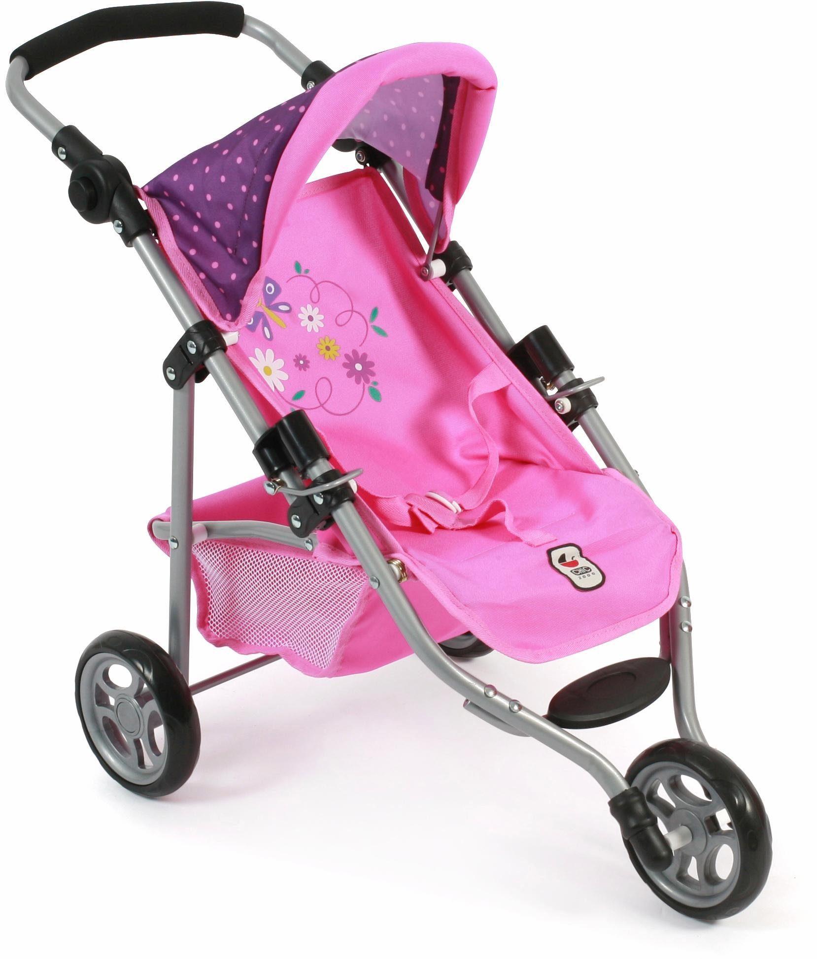 CHIC2000 Puppen Jogging Buggy mit Gurt, »Lola, lila-pink«