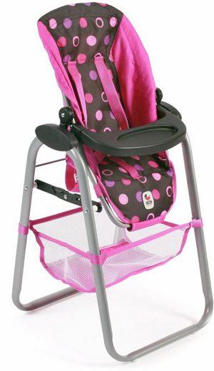 chic2000 puppen hochstuhl mit abnehmbarem tablett schwarz pink online kaufen otto. Black Bedroom Furniture Sets. Home Design Ideas