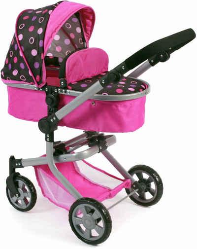 CHIC2000 Kombi Puppenwagen, »Mika, schwarz-pink«
