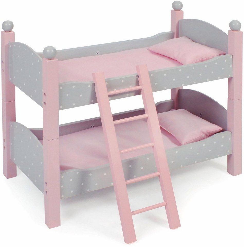 chic2000 puppen etagenbett aus holz puntos grey otto. Black Bedroom Furniture Sets. Home Design Ideas