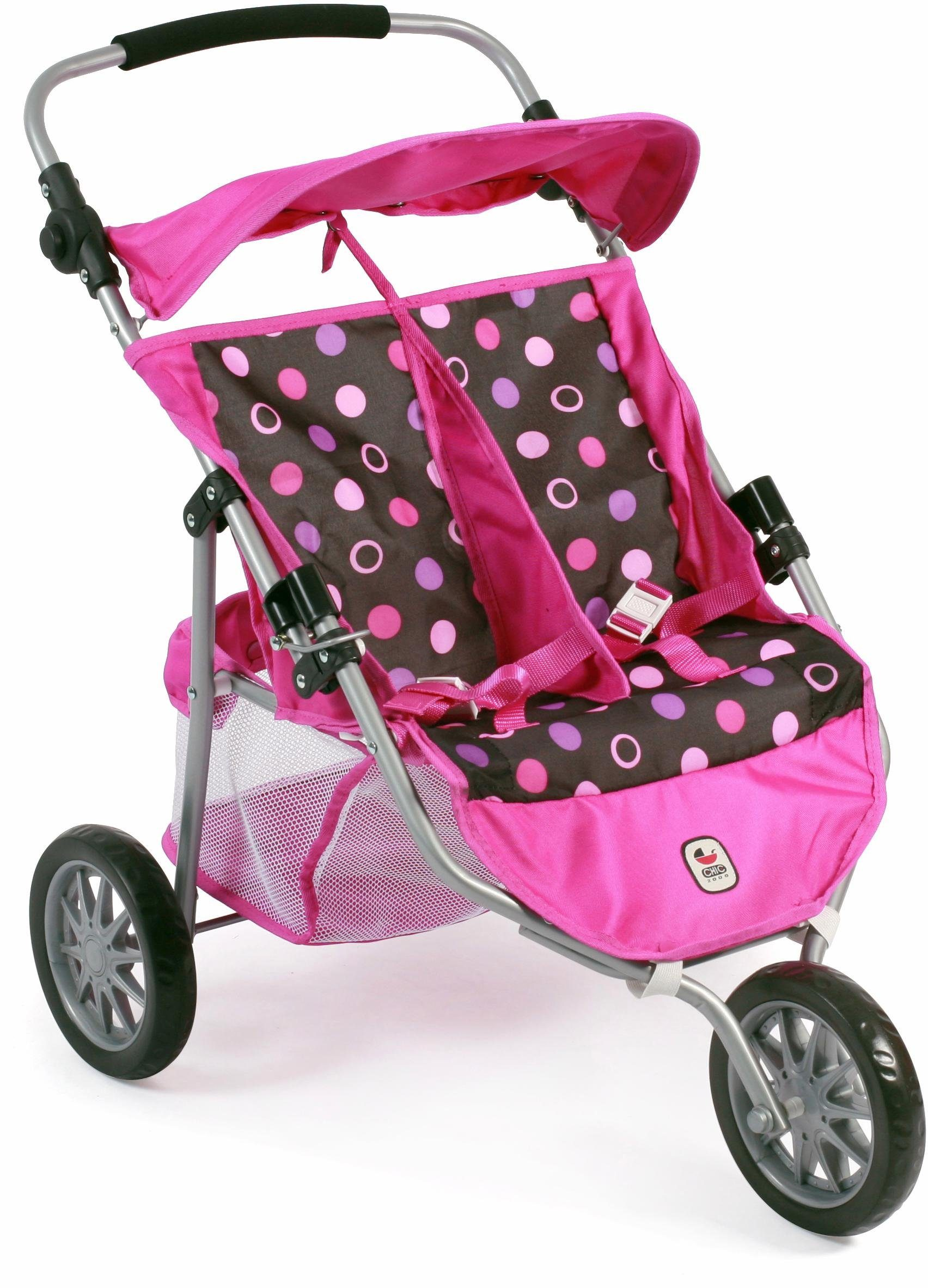 CHIC2000 Puppen Zwillingsjogger, »Jogger, grau-pink«
