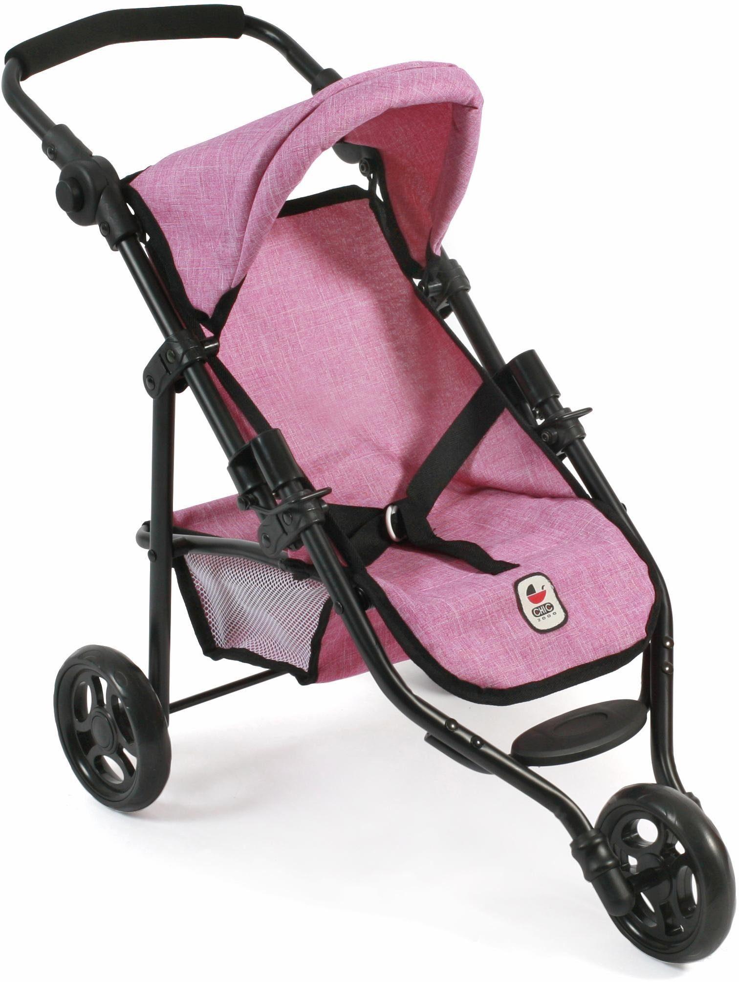 CHIC2000 Puppen Jogging Buggy mit Gurt, »Lola, pink«