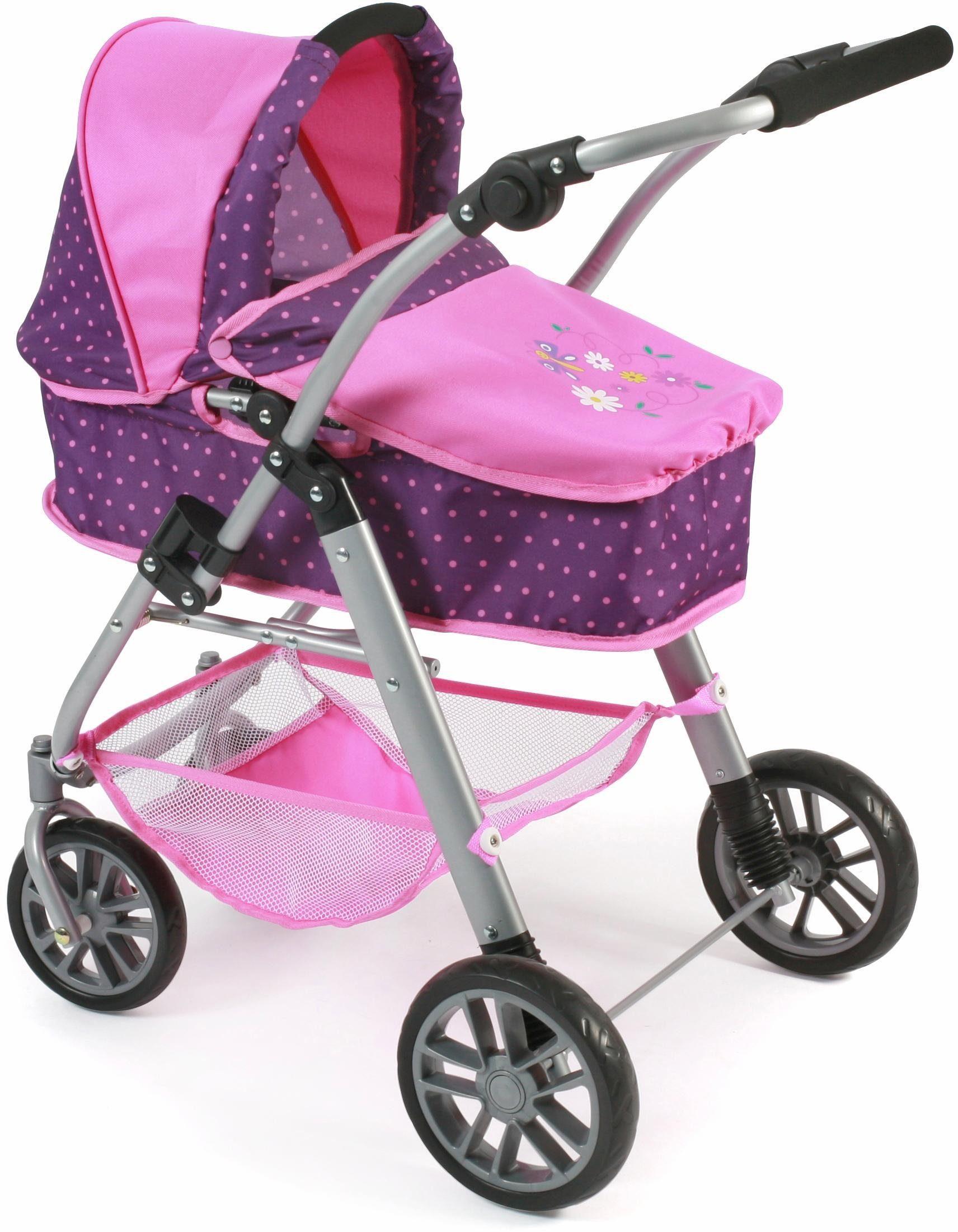 CHIC2000 Kombi Puppenwagen mit schwenkbaren Vorderrädern, »Emilia, lila-pink«
