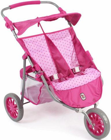 CHIC2000 Puppen Zwillingsjogger, »Jogger, pink«