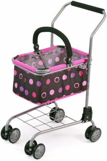 CHIC2000 Einkaufswagen mit herausnehmbarem Einkaufskorb, »schwarz-pink«
