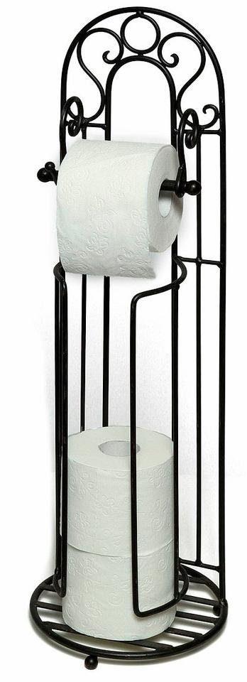 Home affaire Toilettenpapierständer »Antik«, schwarz