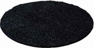 Teppich hellgrau rund  Hochflor-Teppich online kaufen » Langflor-Teppich | OTTO