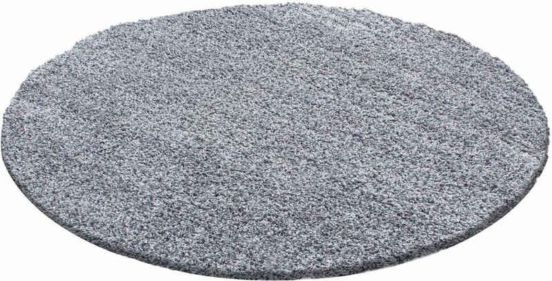Hochflor-Teppich »Life Shaggy 1500«, Ayyildiz, rund, Höhe 30 mm, Wohnzimmer