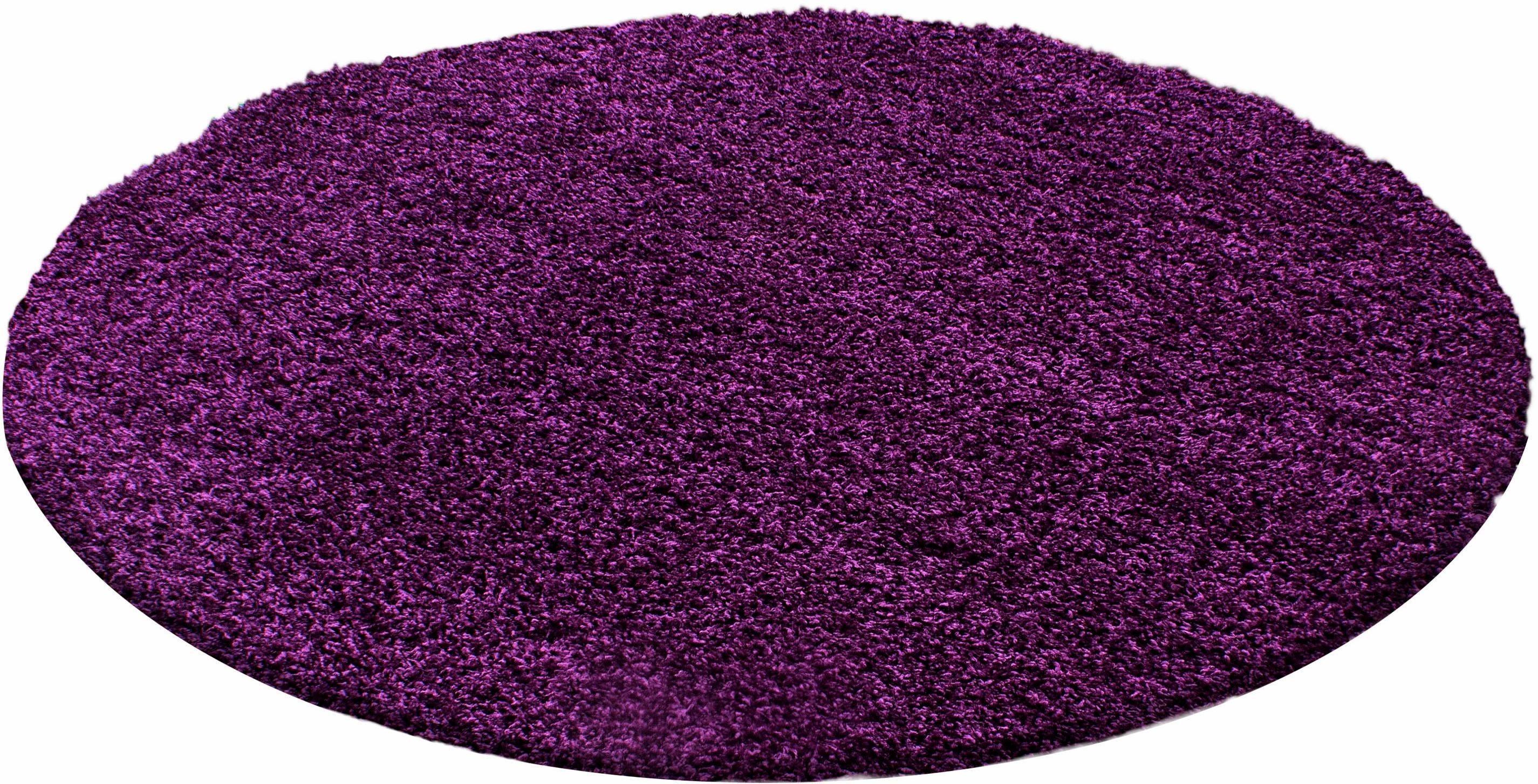 Hochflor-Teppich »Life Shaggy 1500«, rund, Höhe 30 mm
