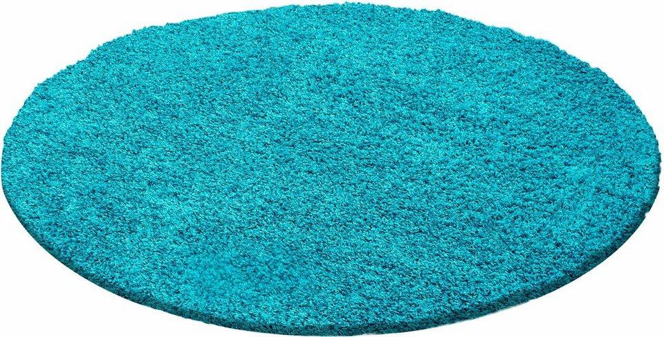 Hochflor teppich »life shaggy 1500« rund höhe 30 mm online kaufen