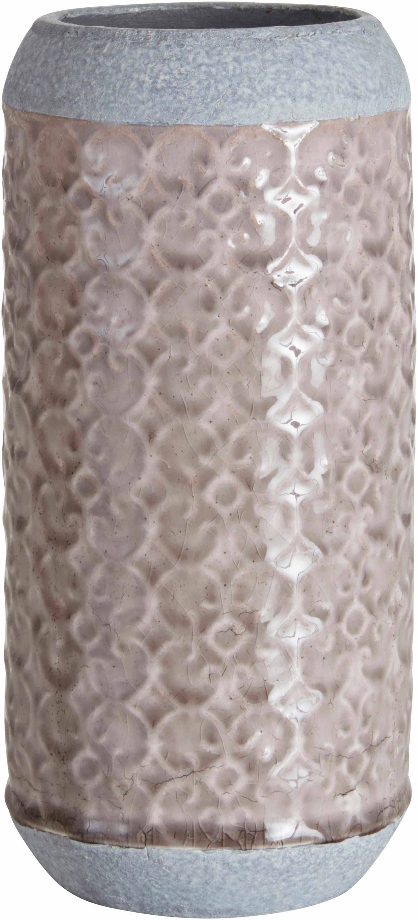 Home affaire Vase im Zement Look