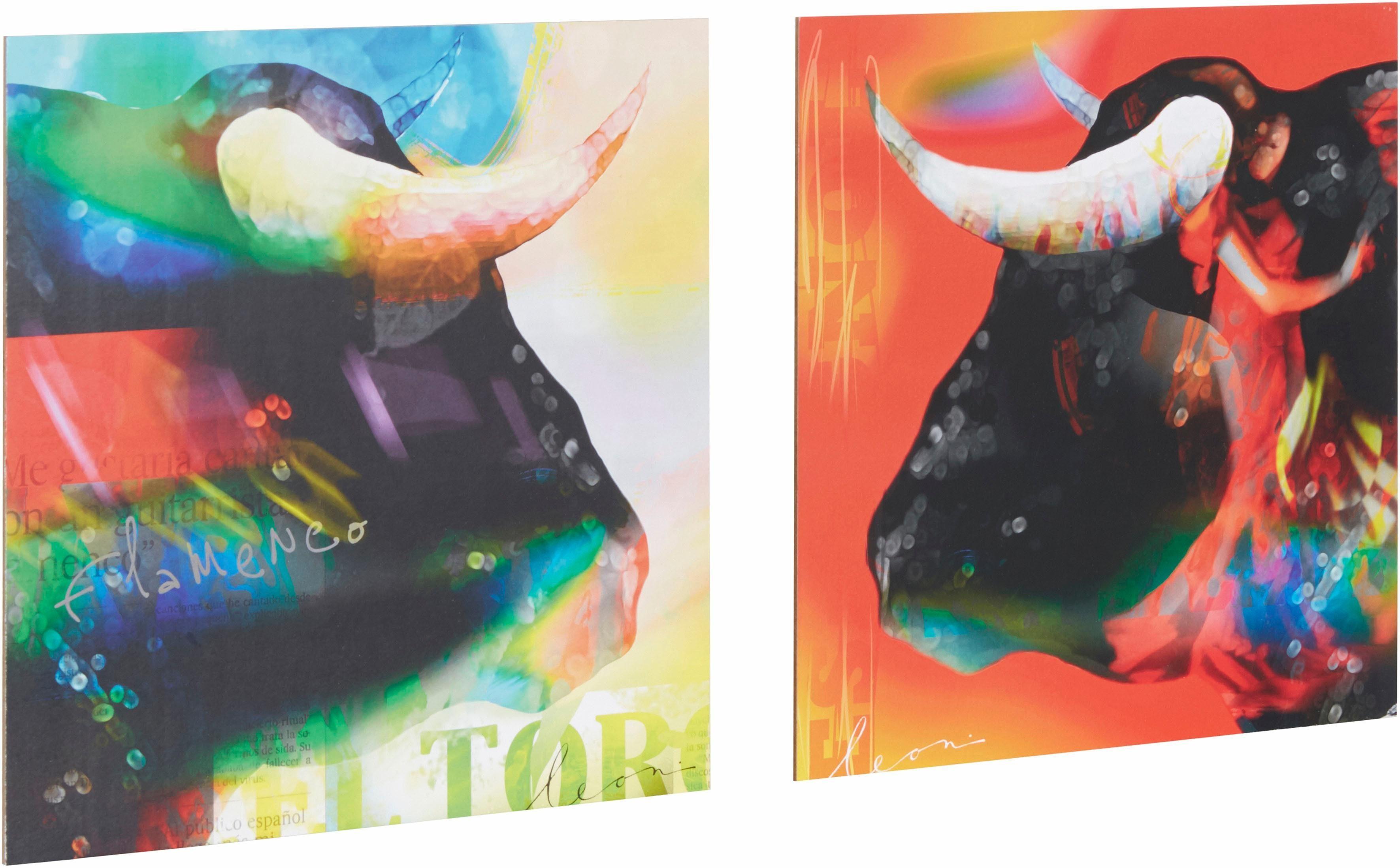 Premium Picture, Deco-Panel, »Stier abstrakt«, 2x 30/30 cm