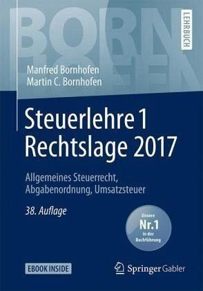 Broschiertes Buch »Steuerlehre 1 Rechtslage 2017«