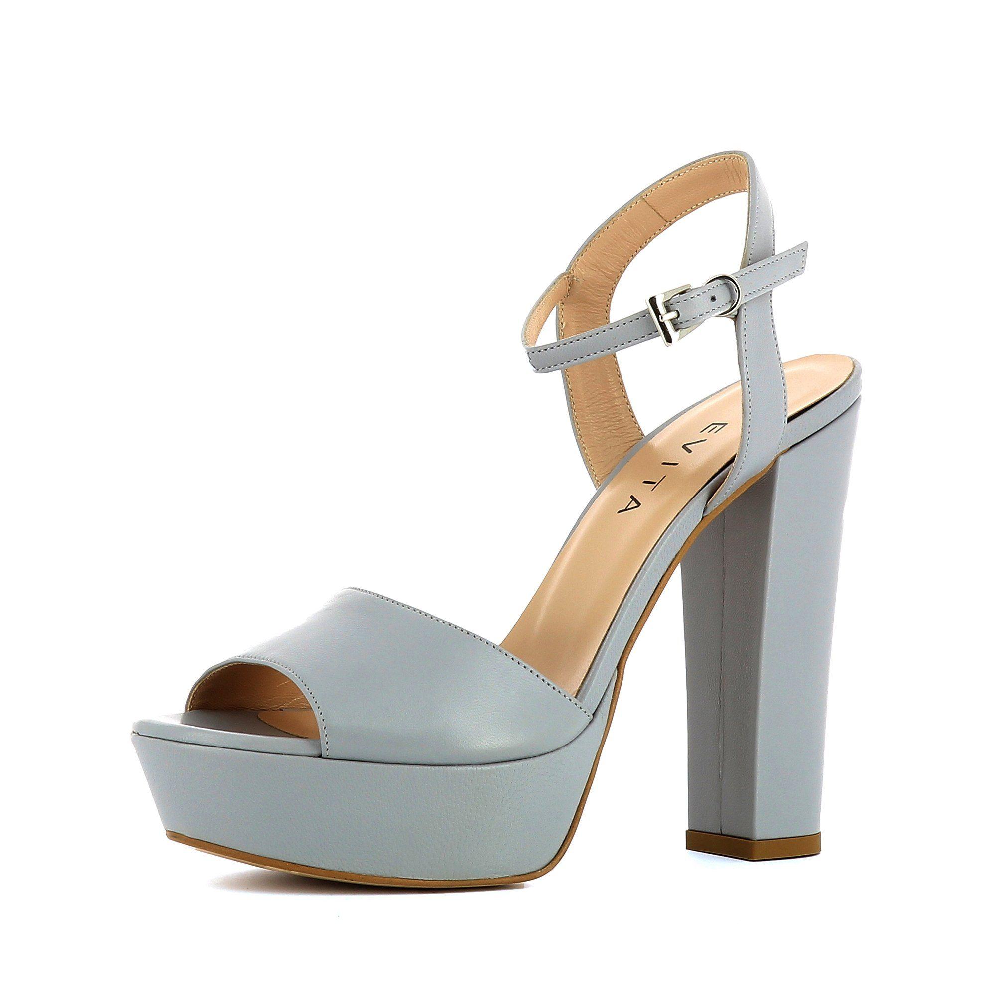 Evita STEFANIA High-Heel-Sandalette, Plateausandaletten online kaufen  hellgrau