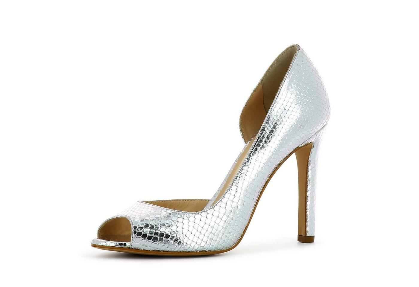 Damen Evita  BELINA Peeptoepumps silber | 04059599020148