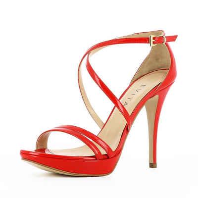 PoiLei »Giorgia« High-Heel-Sandalette, mit stylischer Fersenschnürung, schwarz, schwarz