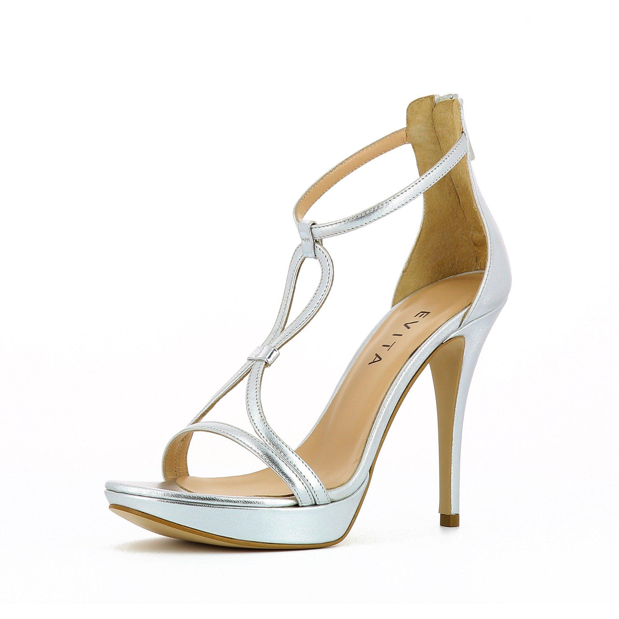Evita »VALERIA« High-Heel-Sandalette, rosa, roségoldfarben