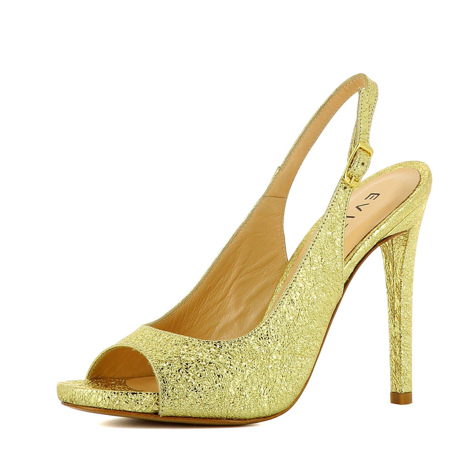 Evita »FLAVIA« Peeptoepumps, goldfarben, goldfarben