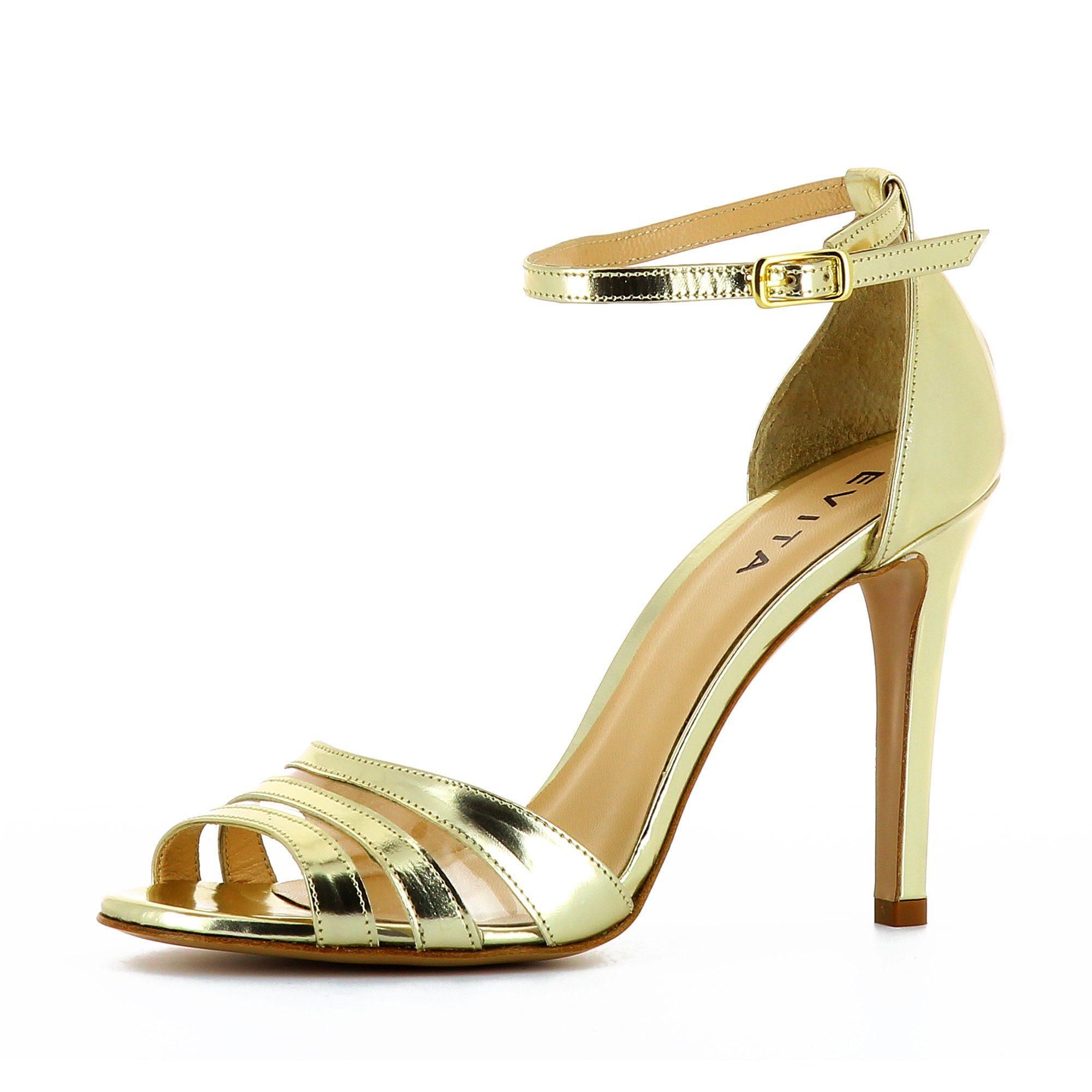 Evita »CRISTINA« Riemchensandalette, goldfarben, goldfarben