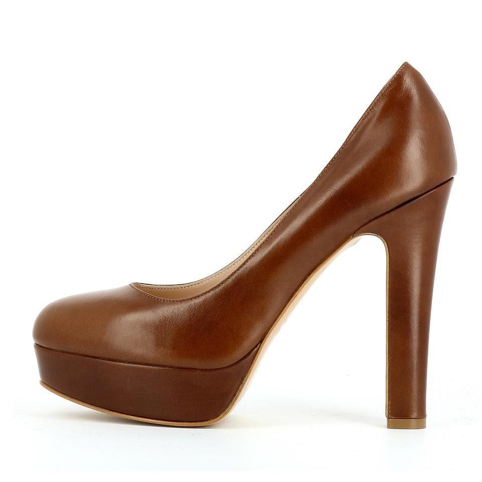 Evita RICCARDA Plateaupumps, High-Heel-Pumps  cognac