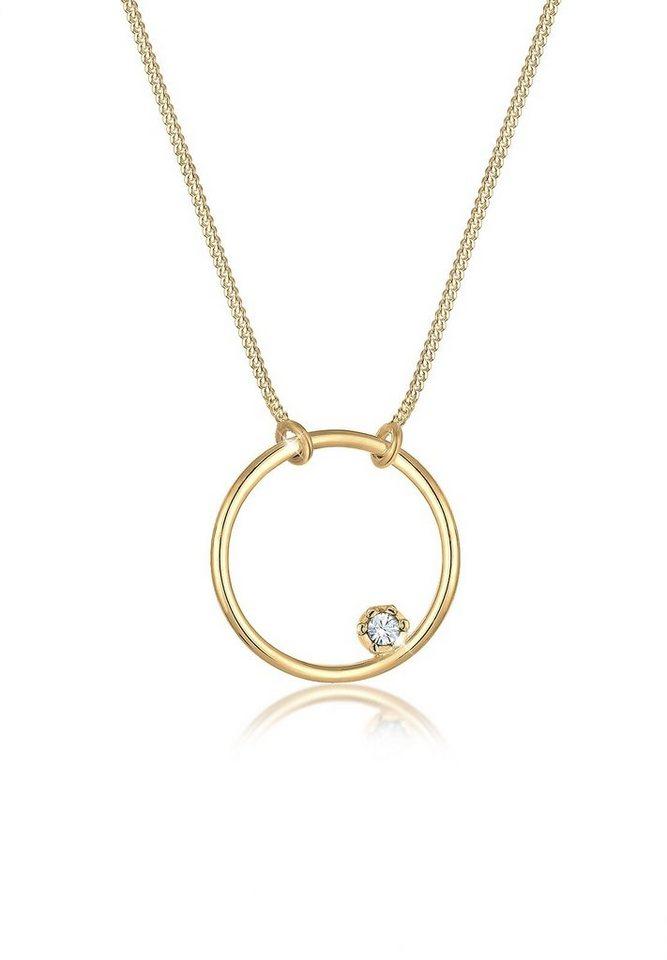 Elli Halskette »Kreis Basic Swarovski® Kristalle 925 Silber« - Preisvergleich