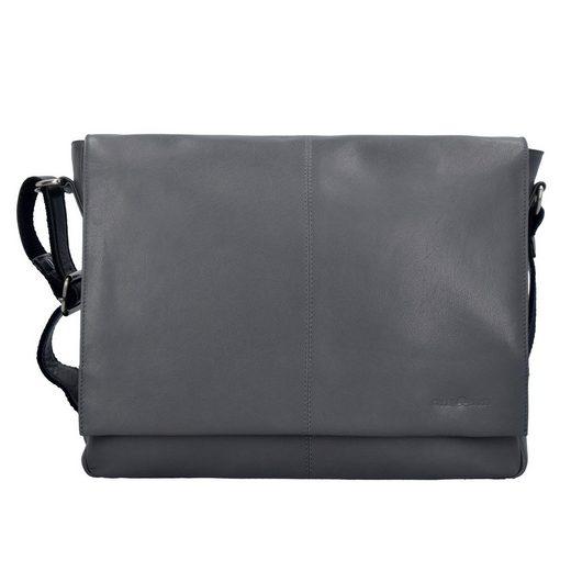 Greenburry Pure A4 Messenger Bag Tasche Leder 37 cm Laptopfach
