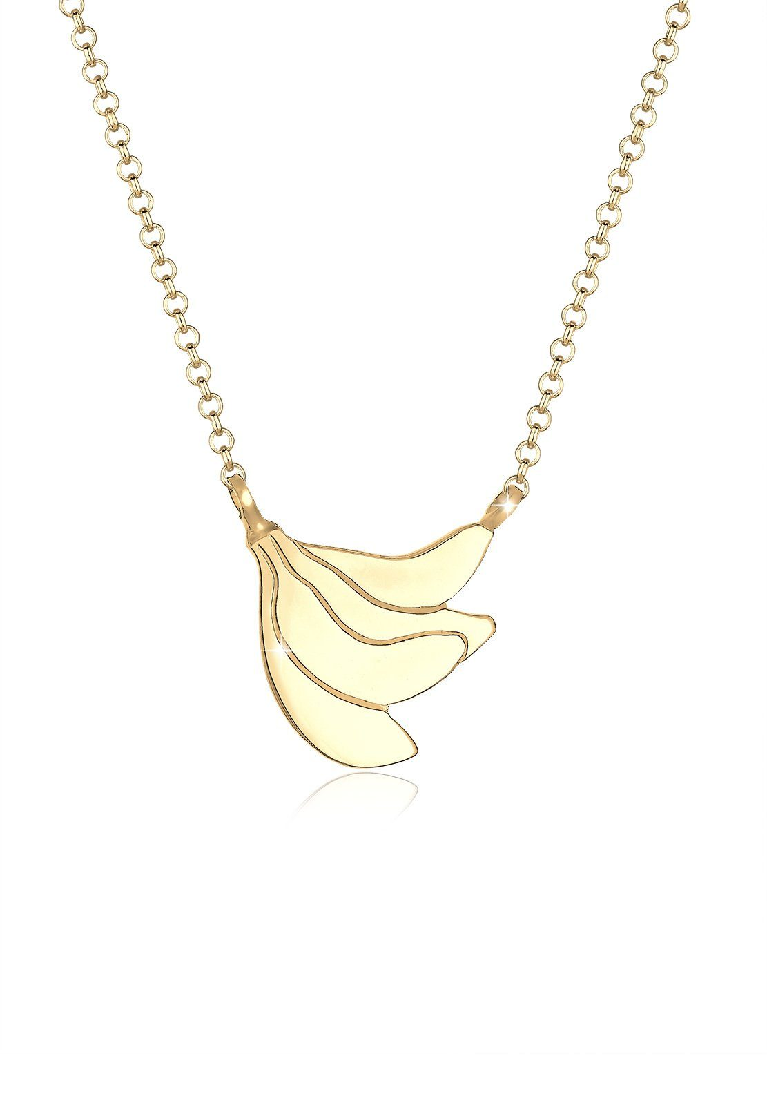 Elli Halskette »Banane Frucht Tropical Sommer 925 Sterling Silber«