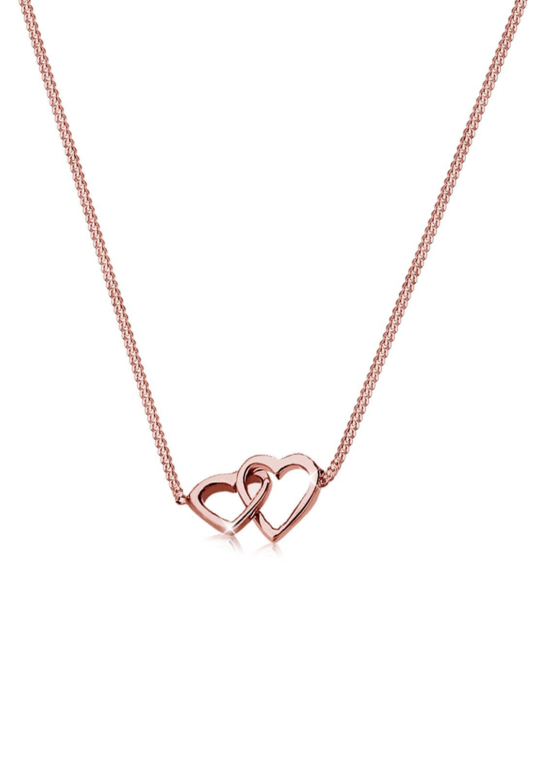 Elli Halskette »Herz Verschlungen Liebe 925 Sterling Silber«