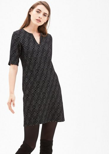 s.Oliver BLACK LABEL Jacquard-Kleid mit Retromuster