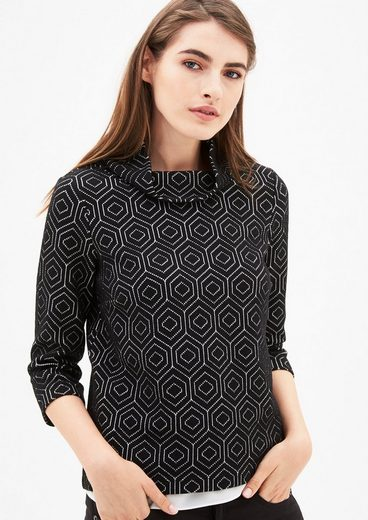 s.Oliver BLACK LABEL Shirt mit Retromuster