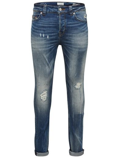 Seulement Et Fils Mittelblaue Loom Slim-fit-jeans Im 5-pocket-stil