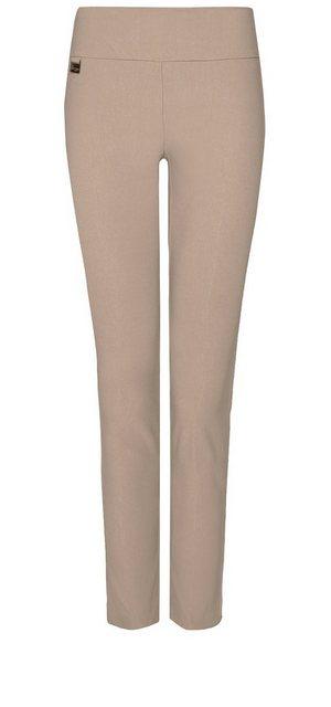 Hosen - Lisette L Slim Leg »in Flatterie Fit design« › braun  - Onlineshop OTTO