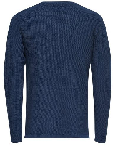 ONLY & SONS Einfarbiges Strickpullover