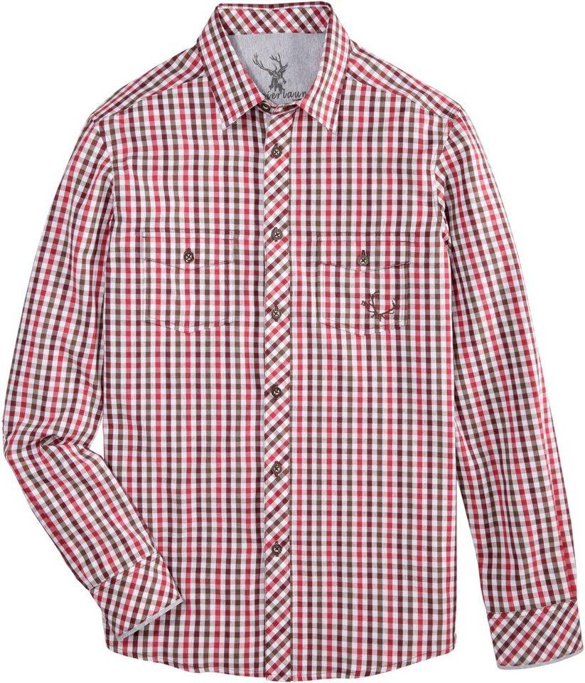 Spieth & Wensky Trachtenhemd im Karodesign | Bekleidung > Hemden > Trachtenhemden | Rot | Spieth & Wensky